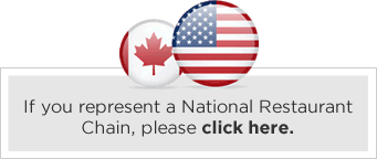 Click here if you are a national restaurant chain