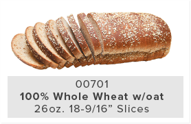 100% Whole Wheat w/oat
